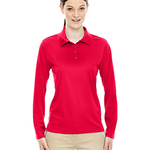 Ladies' Pinnacle Performance Long-Sleeve Piqué Polo