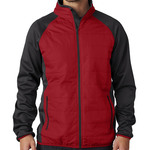 UltraClub® Adult Cool & Dry Quilted Front Full-Zip Lightweight Jacket