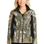 Ladies Camouflage Colorblock Soft Shell