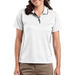 Ladies Dri Mesh ® Polo with Tipped Collar and Piping