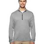 Men's Heather 3-Stripes Quarter-Zip Layering