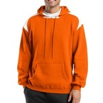 Pullover Hooded Sweatshirt with Contrast Color