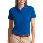 Ladies Poly Charcoal Blend Pique Polo
