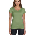 Bella Ladies'  5.8 oz., 1x1 Baby Rib Short-Sleeve Scoop Neck