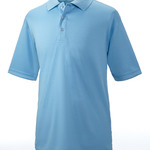 UltraClub® Men's Cool & Dry Elite Mini-Check Jacquard Polo