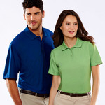 UltraClub® Men's Cool & Dry Elite Tonal Stripe Performance Polo