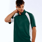 UltraClub® Adult Cool & Dry Sport Performance Color Block Interlock Polo