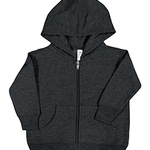Infant Fleece Hooded Zip Front Sweatshirt With Pockets