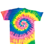 Gildan Tie-Dye Youth Neon Spiral Rainbow Pigment-Dyed Tee