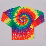 Gildan Tie-Dye Adult Rainbow Spiral Long-Sleeve Tee