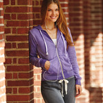 Ladies' Angel Sanded Hooded Fleece