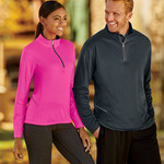 UltraClub® Ladies' Cool & Dry Sport 1/4-Zip Pullover