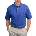 Heavyweight Cotton Pique Polo with Pocket
